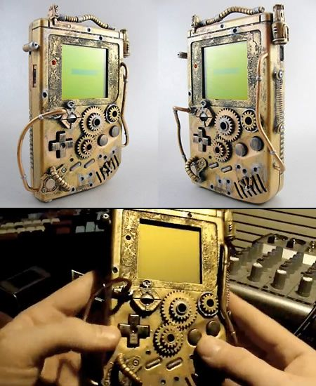 Awesome steampunked gameboy