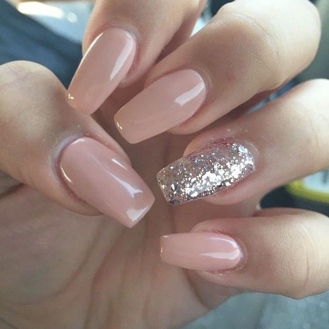 100 Must Try Nail Designs For Short Nails 2019 Summer One Glitter Nails Best Acrylic Nails Coffin Shape Nails