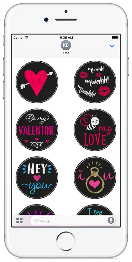 Love and Valentines sticker pack available on the App Store. #valentinesday #love #romance #stickerpacks #stickers