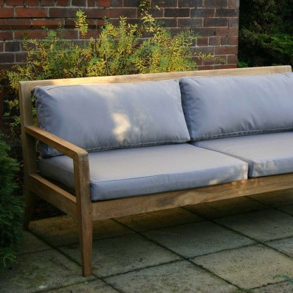 buy menton lounge the worm that turned revitalising your outdoor space large sofa teak - Garden Furniture Teak