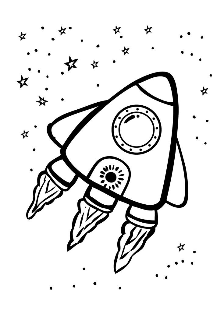 brave rocket coloring page for kids