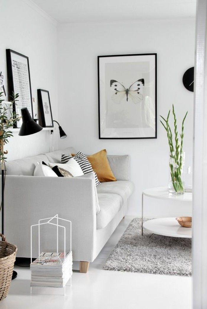 Wohnzimmer Dekorieren Schwarze Bilder Rahmen