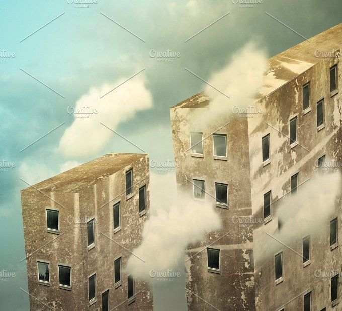 Skyscrapers beyond the sky by ValentinaPhotos on @creativemarket