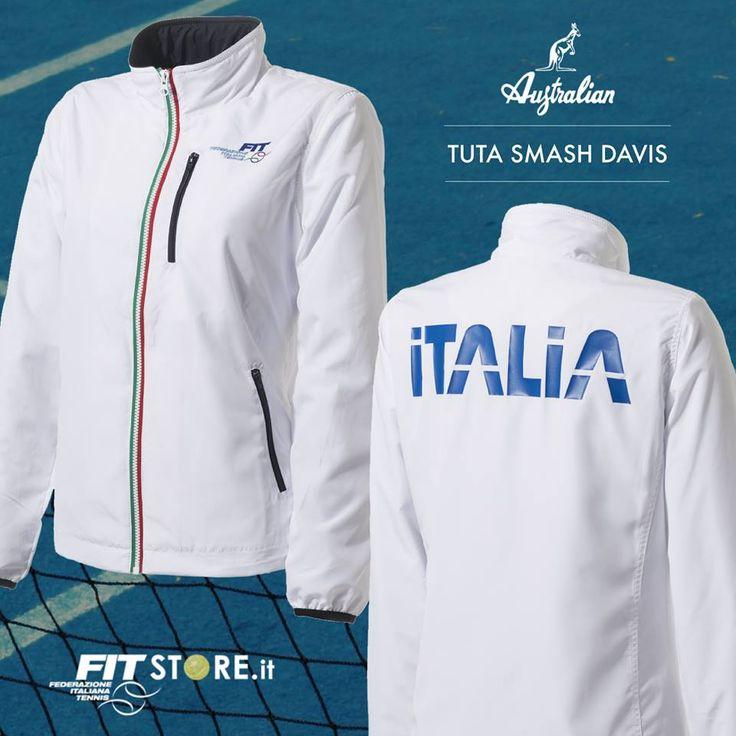 È la divisa ufficiale degli azzurri di #CoppaDavis e fa parte della linea di abbigliamento #FIT. Scendi in campo con la tuta Smash Davis insieme alla Nazionale. #DavisCup