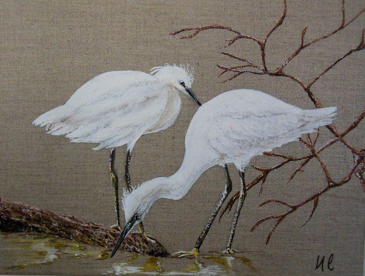 17 best images about mes peintures oiseaux plumes on for Peinture lin naturel