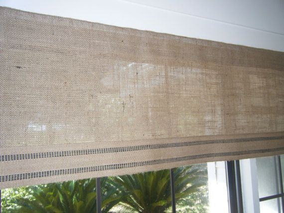 Best 25+ Burlap valance ideas on Pinterest | Burlap ...