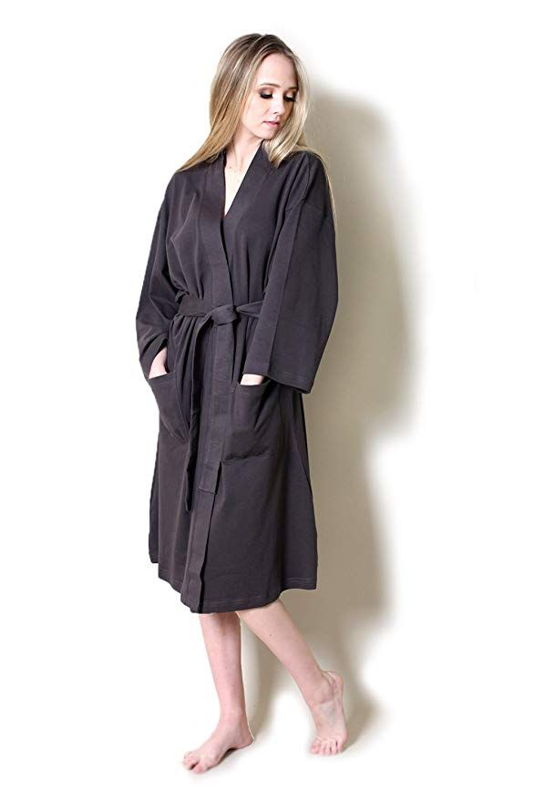 Viverano 100% Organic Cotton Spa Bath Robe Kimono 9b0f72436