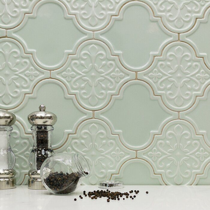 Vintage Lantern 6 X 7 Ceramic Field Tile In 2020 Arabesque Tile Decor Shabby Chic Kitchen
