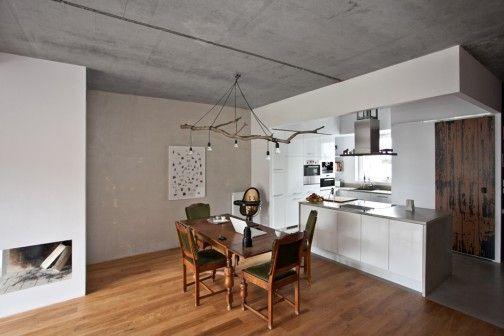 Wnętrze domu szeregowego dla trzyosobowej rodziny to kolejny świetny projekt architektów z grupy mode:lina z Poznania. http://sztuka-wnetrza.pl/1591/artykul/aranzacja-wnetrza-domu-surowo-i-przytulnie