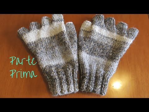 Mezzi guanti a maglia- tutorial / knit fingerless gloves - YouTube