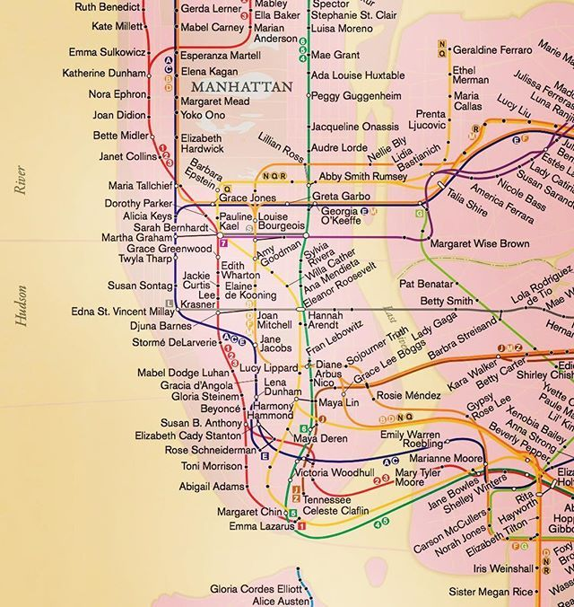 Rebecca Solnit Women Subway Map.Happy International Womens Day From Rebecca Solnits Proposed Nyc