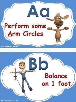 """The following activity; """"ABC…Energize Me"""" is a """"high energy, fun and organized"""" classroom activity that gives your students a chance to move their bodies in a number of ways, while learning to recognize the Upper and Lower Case letters of the Alphabet."""