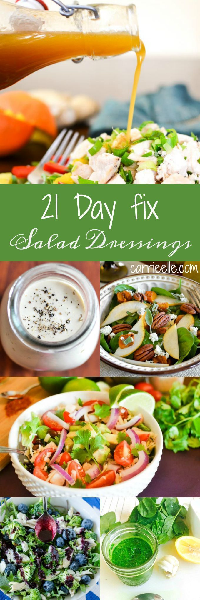 21 Day Fix Salad Dressings (container counts included - these are all SO good!)