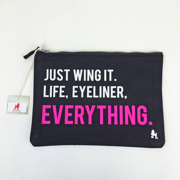 'Just Wing It' Eyeliner Make Up Bag