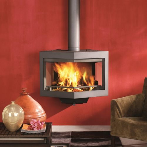 Wanders Diamond Wall Mounted Wood Burning Stove