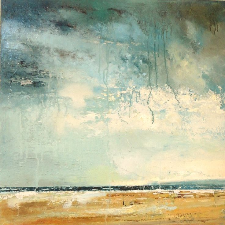 'Spring Clouds' by Claire Wiltsher 60cm x 60cm mixed media £700 www.lyndhurstgallery.co.uk