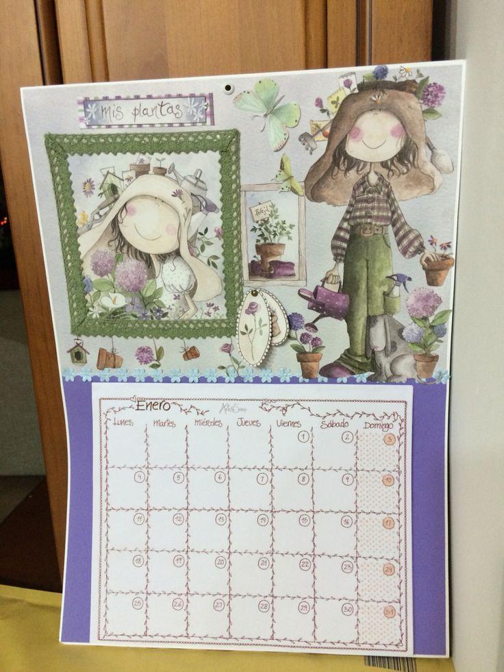 Calendario artesanal colección Ofelia de art&scrap