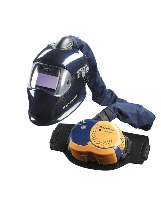 Welding helmet with respirator if your going to mig aluminium use a respirator, the fumes can cause Alzheimer's . If the fumes get under the helmet and your welding all day your face will look like the silver surfer.