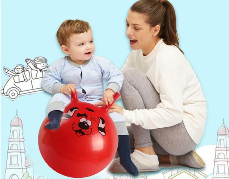 Thickened Size Inflatable Massage Jumping Ball for Children Health Care PVC Material Bouncing Balance Ball 10' 2-4 years old