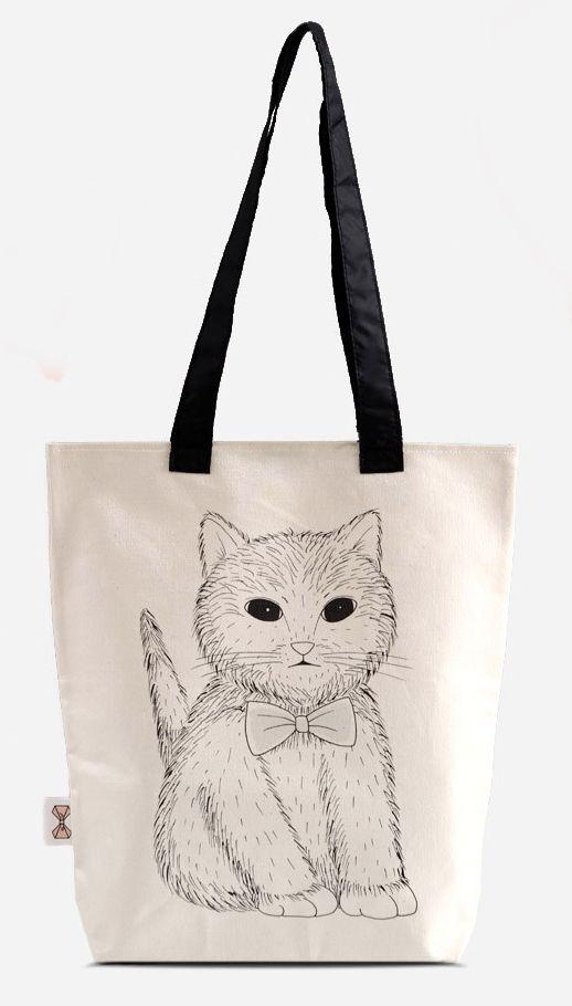 Here Kitty Kitty~ #198000 #totebag #cat #kitty http://zocko.it/LDupI