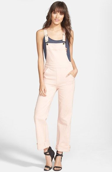 Wildfox 'Ladonna' Straight Leg Overalls (Rose Bud) available at #Nordstrom