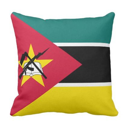 #Mozambique Flag Throw Pillow - cyo customize design idea do it yourself