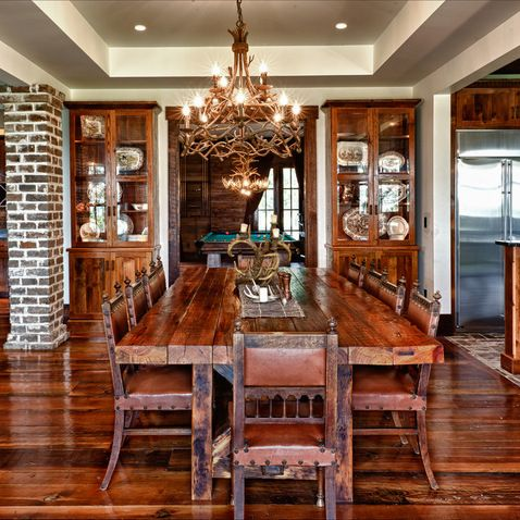 211 best Cabins - Dining rooms images on Pinterest   Log houses ...