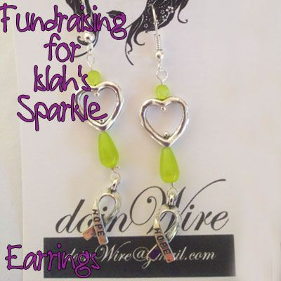 IslahsSparkle Earrings Green Cats Eye Berads and Awareness Charms https://www.facebook.com/IslahsSparkle
