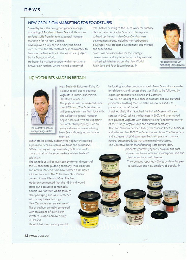 FMCG. June 2011. Business marketing, New product