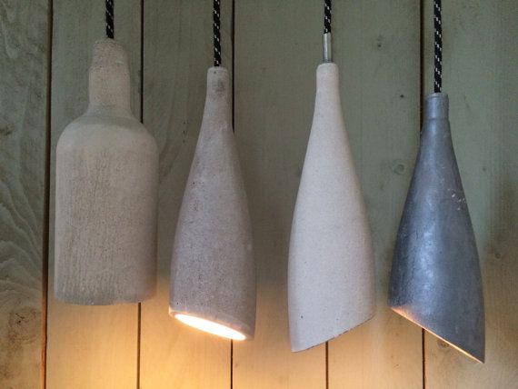 Concrete Pendant Lamp - Homemade Industrial