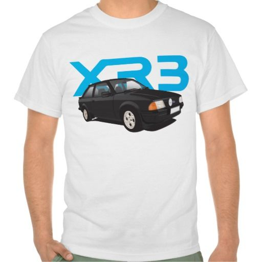 Ford Escort MK3 XR3 black  #ford #escort #fordescort #mk3 #xr3 #tshirt #thirts #automobile #car #uk