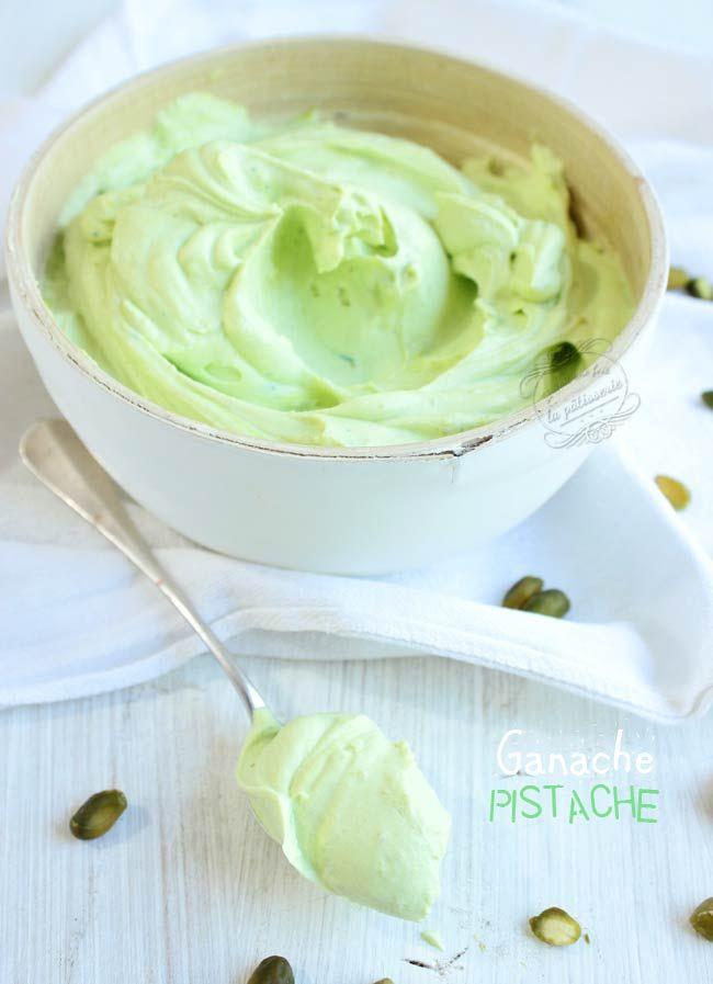 recette de ganache pistache pour macarons ou autre