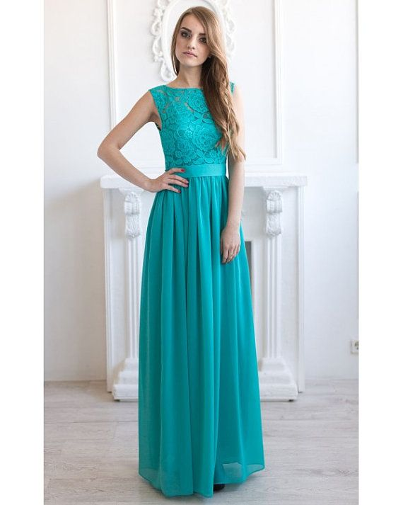 Turquoise bridesmaid dress long Turquoise by AliceBerryFashion                                                                                                                                                                                 More