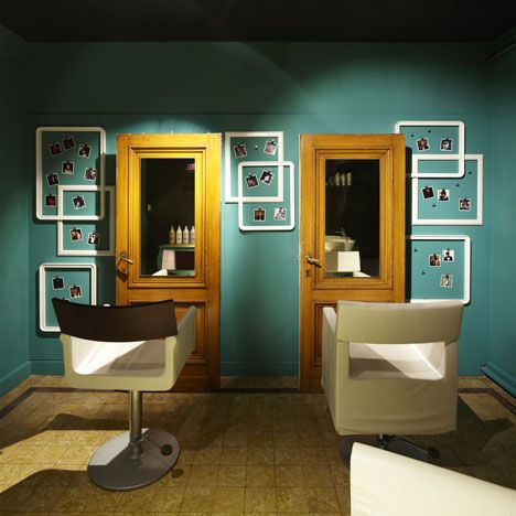 73 best interior hair images on pinterest barber salon hair belgian design studio pinkeye has combined a laundrette a cafe and a hairdressing salon to malvernweather Image collections