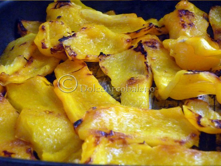 Peperoni gialli alla griglia, ricetta light. Yellow peppers on the grill, light recipe. :)