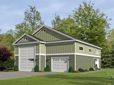 72 best 4 car garage plans images on pinterest car for Rv garage with loft