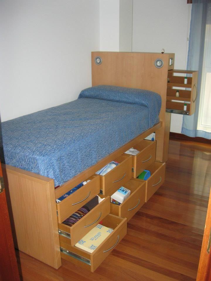 Ver 1000 id er om muebles cama p pinterest camas for Cama divan con cajones