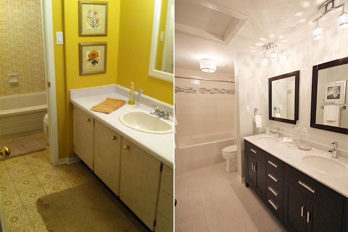 Before after bathroom renovation archwood - Diy bathroom remodel before and after ...