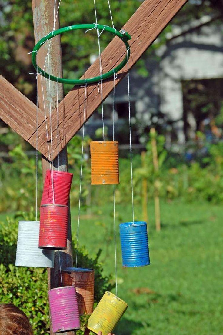 Les 25 meilleures id es de la cat gorie les carillons de vent des enfants sur pinterest perles - Idee bricolage jardin ...