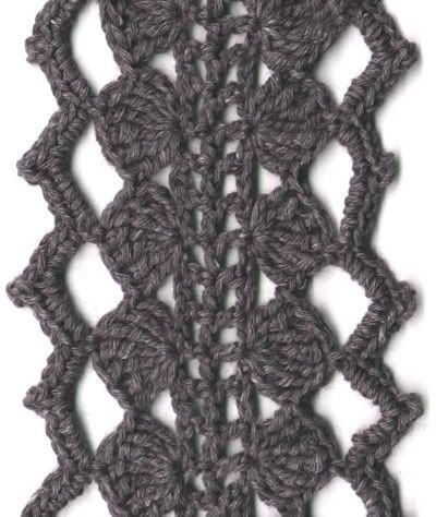 skinny grey scarf - CROCHET  so cute and it's inspired from Luna Lovegood's scarf in The Order Of The Phoenix (Harry Potter WOOOOO)