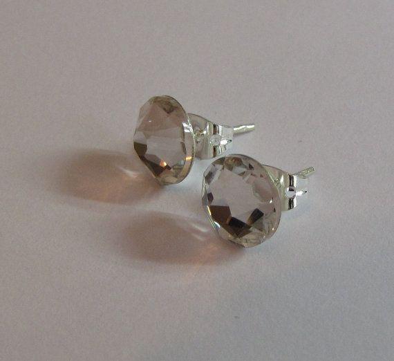 8mm Clear Swarovski Crystal Studs by RosemarysJewellery on Etsy