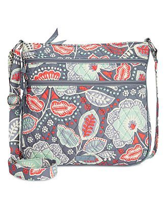 Vera Bradley Triple Zip Hipster Crossbody is a perfect present for a girl who goes out often with her friends. It can hold her phone, money, and any other travel size items that she needs.