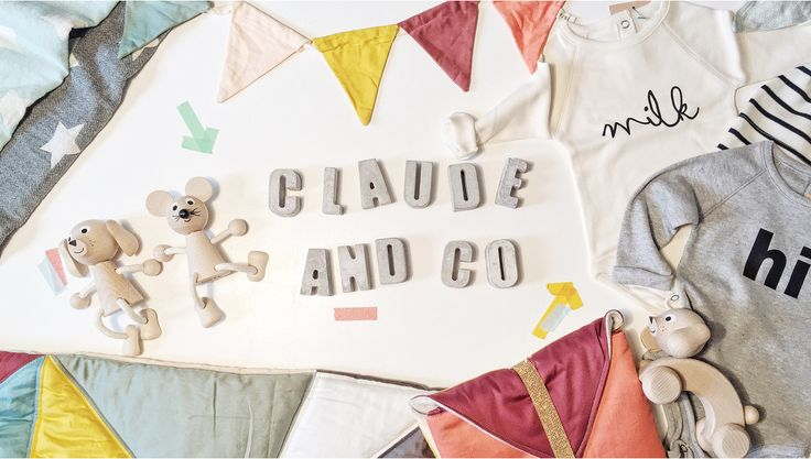 """Claude and Co """"For little individuals"""" Design led online concept store for Children. A selection of fashion, bedroom decor, games, toys and gifts."""