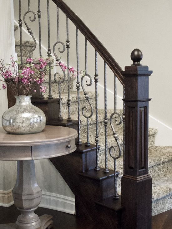 staircase by Millennium Cabinetry http://www.houzz.com/photos/869531/Foyer-traditional-staircase-detroit