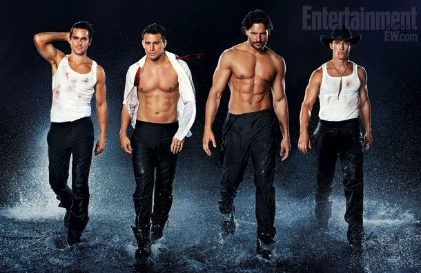 "The guys from ""Magic Mike"" the movie- Channing Tatum, Matthew McConaughey, Matt Boner and Joe Manganiello"
