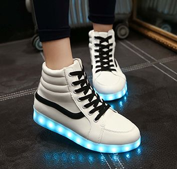 Couple chaussures Sneakers Colorful lumineux chaussures chaussures usb LED LED de charge chaussures fluorescentes QNqyb87Oj