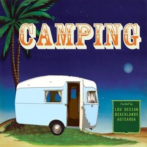Camping Art Deco kiwiana print