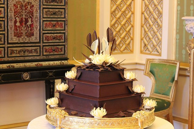 The 2nd wedding cake for the royal reception. The McVities chocolate biscuit cake requested by Prince William