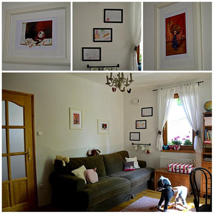 pictures from Katalin Szegedi on the wall