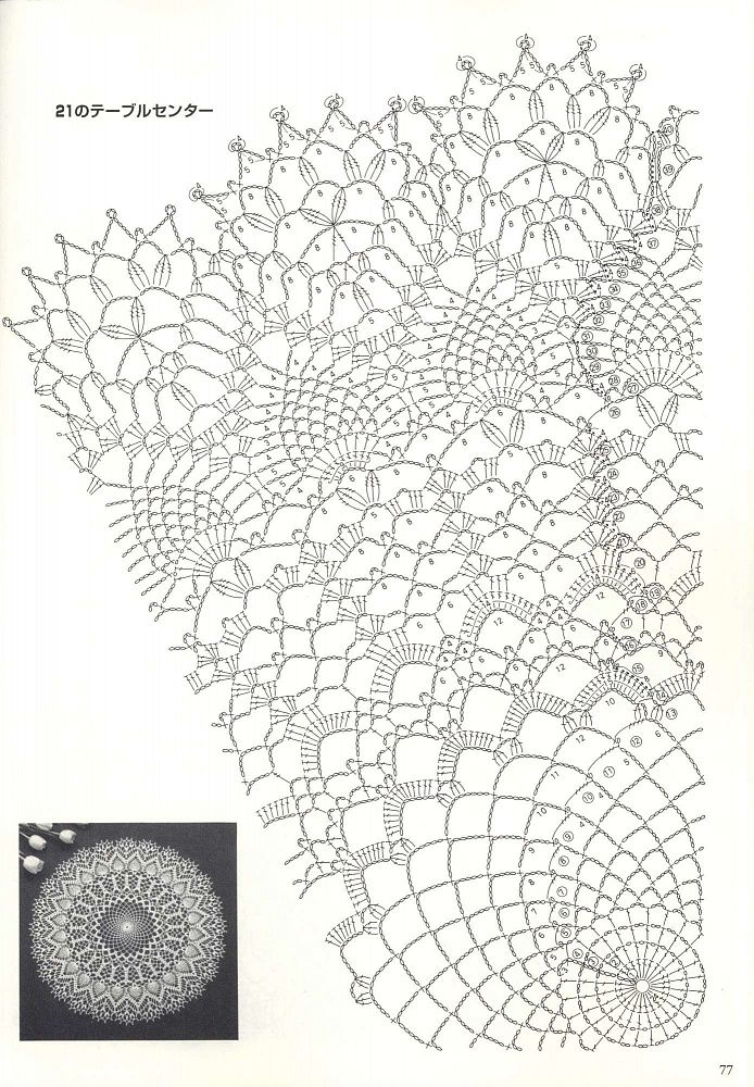 Самые красивые схемы вязания салфеток крючком